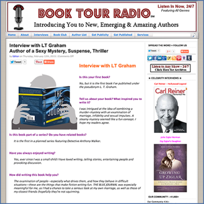 Book Tour Radio Interview with Author LT Graham