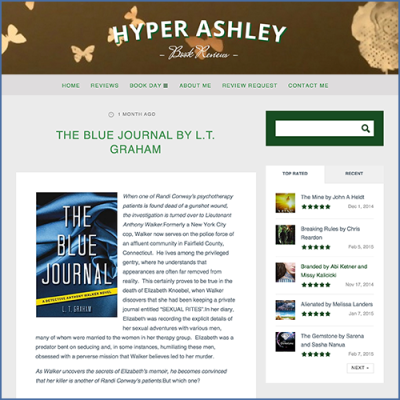 Hyper Ashley Book Reviews The Blue Journal by L.T. Graham