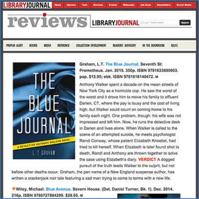 Library Journal Feature Review for The Blue Journal by LT Graham