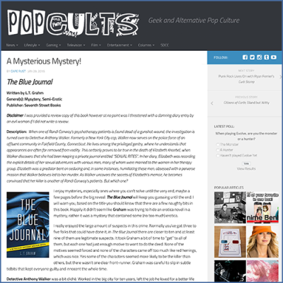 Pop Cults Mystery Review for The Blue Journal