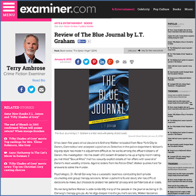 Terry Ambrose Crime Fiction Examiner Review of The Blue Journal