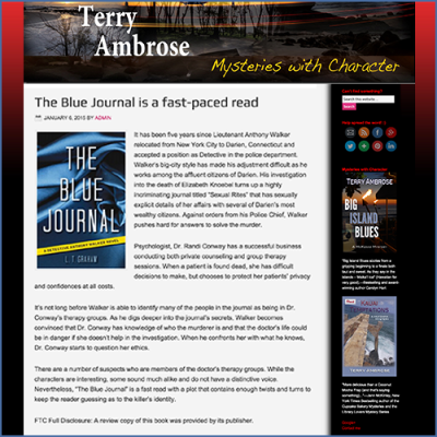 Terry Ambrose Mystery Feature for The Blue Journal