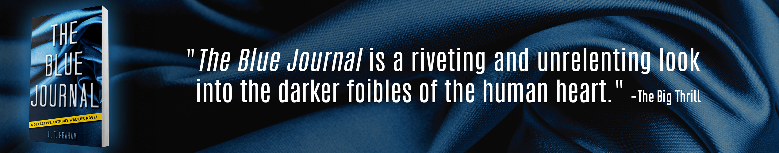 The Big Thrill Book Review of The Blue Journal