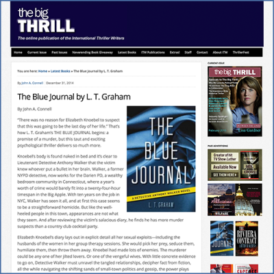 The Big Thrill LT Graham Interview for The Blue Journal