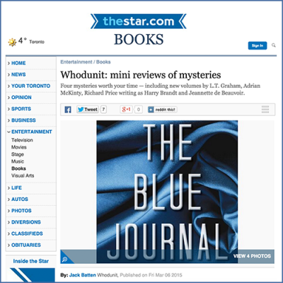The Toronto Star Review of The Blue Journal